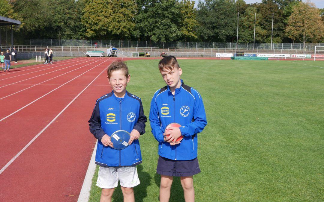Am 8. September nahmen Marius Lieschefsky und Julian Krato erfolgreich am Werfertag in Bielefeld teil