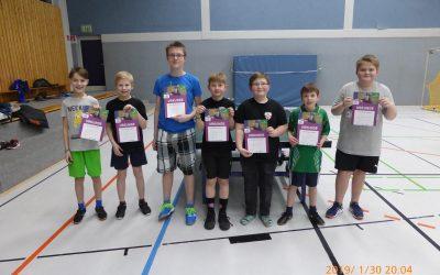 Miniturnier bei der Tischtennisjugend