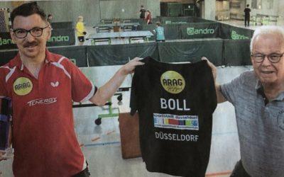 Eine zweite große Ehrung und Anerkennung für unseren  Tischtennisspieler Dennis Lehn.